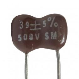 DM15-39 - Mica Capacitor, 39pf 500v