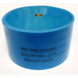 EPSL5362ZS Doorknob Capacitor, 3600pf 30kv, High Energy