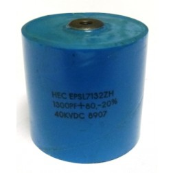 EPSL7132ZH Doorknob Capacitor, 1300pf 40kv, High Energy (Clean Used)