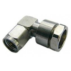 F1TSR-HF SMA Male Right Angle Connector, FSJ1-50 (Good to 18 GHz)