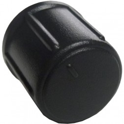 GALXKNOB19 - Galaxy Medium Black Round Replacement Knob