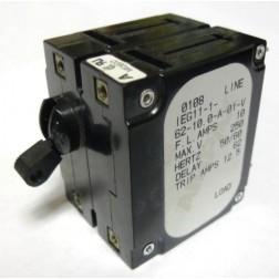 IEG11-1-62-10 Circuit Breaker, Dual AC, 10a, Airpax
