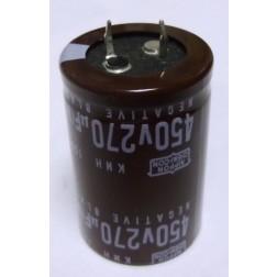KMH450VNSN270 Capacitor, snap lock, 270 uf 450vdc, Chem