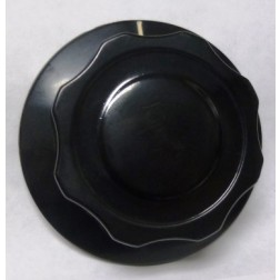 KNOB20  Tuning Knob-Ribbed, with Skirt, Black with White Pointer