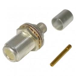 M39012-03-0005 Type-N Female Bulkhead Crimp Connector, Rear Mount, RG8, RG213, RG214, Amphenol (82-335)