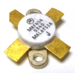 MRF454-MOT Silicon Power Transistor, 80W, 30MHz, 12.5V, MOTOROLA