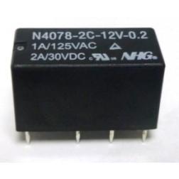 N4078-2C-12V-0.2 Relay, DPDT, 2a, MFR: NHG