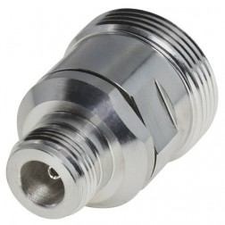 P2RFD1673-4 Adapter, Straight, 7/16 DIN Female to Type-N Female, LOW PIM, RFI