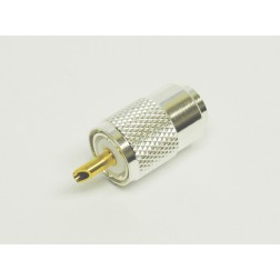 1-PL259A UHF Male Solder Type Connector, Silver/Teflon (Best Grade), LMR400/9913