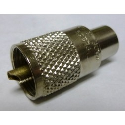 PL259USA UHF Male Solder Type(PL259) Connector, Straight, Knurled Nut, USA