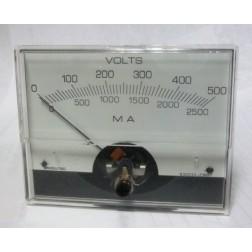 PMV500 Panel meter, dc volts, Modutec