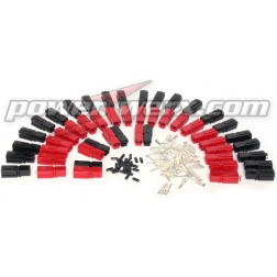PP30-100  - 30 Amp Unassembled Red/Black Anderson Powerpole Sets (100 sets)