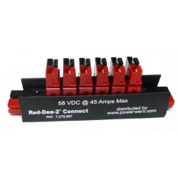 PS-6AA  -  Red-Dee-2 In Line 6-Way Powerpole Splitter