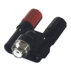 PT4010-020 - Unidapt Binding Post, Red / Black, RF Industries