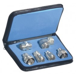 RFA4013  -  7/16 DIN Adapter Kit, 6 pieces, Silver Plated,  w/Case