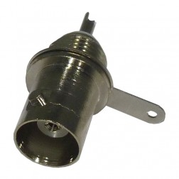 RFB1116-NG Connector, BNC Female Bulkhead, With Grounding Lug & Solder Cup, RFI