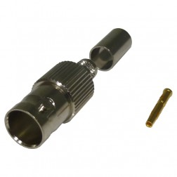 RFB1724 BNC Female Crimp Connector, 75 Ohm, RF Industries