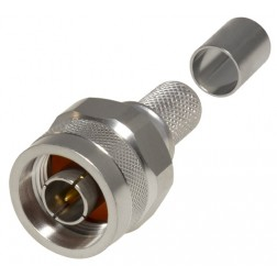RFN1006-49I Type-N Male Crimp Connector W/Hex Nut & Captivated Pin, RFI