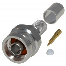 RFN1006-4I Type-N Male Crimp Connector W/Hex Nut, RFI