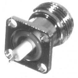 RFN1021-5 Type-N Female Chassis Connector, 4 Hole Panel, W/.260 Teflon Ext. RFI