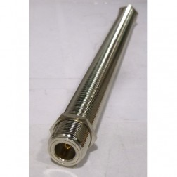 """RFP7318-8 IN Series Adapter, Type-N Female to Female, Barrell, 8"""" long"""
