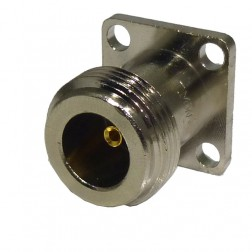 RFPNF-TEF Connector, type-n(f) panel, Mini 4 hole flange w/post, RFP