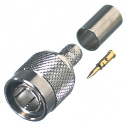 RFT1803-1 TNC Male Crimp Connector, 75 Ohm, RFI