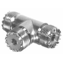 RFU534  IN Series TEE Adapter, UHF Triple Female(SO239), RFI