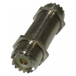 RFU537 IN Series Adapter, UHF Female to Female Threaded Barrel (SO239), 2 Inch,  RFI
