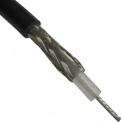 RG58A/U-BEL Coax Cable, Stranded Center Conductor, 0.195 dia, Belden