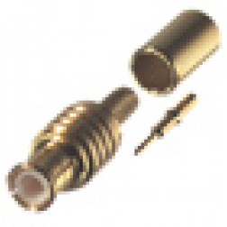 RMX8000-1B Connector, MCX Plug Crimp, RFI