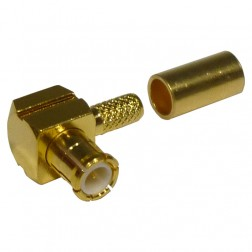 RMX8010-1B Connector, MCX Male Right Angle Crimp, RFI
