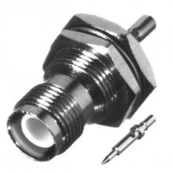 RP1212-B; Connector, TNC Reverse Polarity, Female Bulkhead Crimp, RFI