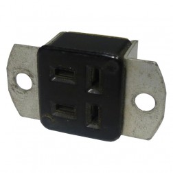 S304AB  4 Pin Cinch Connector Socket w/Angle Brackets  (Jones)
