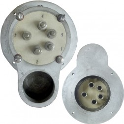 SK500-P - Tube Socket for 4-1000A, Air cool, Pulled from working equipment