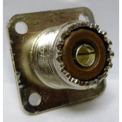 1-SO239-N  SO-239 UHF Female 4 Hole Chassis Mouint  Connector, Nickel / Bakelite, Amphenol (Old Version)