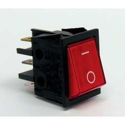 T100-2WI-XII Switch, DPST(4P) RED on/off