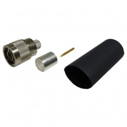 TC400NM-75/50  Type-N Male Crimp Connector, 75 Ohm w/ 50 Ohm Interface, Times