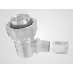 TC600716M-RA-D  7/16 DIN Male Crimp Connector, Right Angle, Hex Nut, LMR600, Times