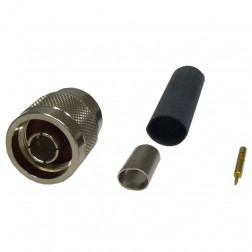 TC240NM-75 Connector, type-n male, 75 ohm knurled nut, TIMES