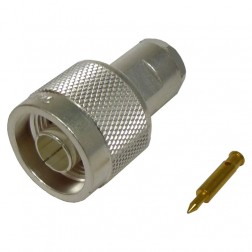 TC240NMC Connector, type-n male clamp, Lmr 240 knurled nut, TIMES