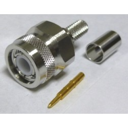TC240TM-X TNC Male Crimp Connector, LMR240 HEX/Knurled Nut, Times