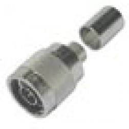 TC400NM   Type-N Male Crimp Connector, LMR400 Knurled Nut, TIMES