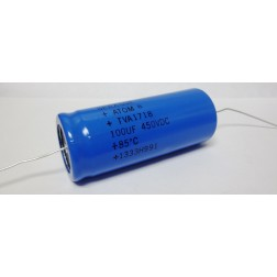 TVA1718 Capacitor, electrolytic, 100uf 450 vdc,  Sprague