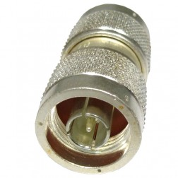 UG57B/U Type-N In-Series Adapter, Barrell Type-N Male to Male, Silver Plated, APL/RF