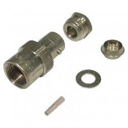 UG89/U  BNC Female Bulkhead Clamp Connector, RG142, Amphenol