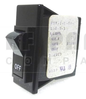 203-1-1-61-203-2-1 Circuit Breaker, Rocker, 20a, AIRPAX