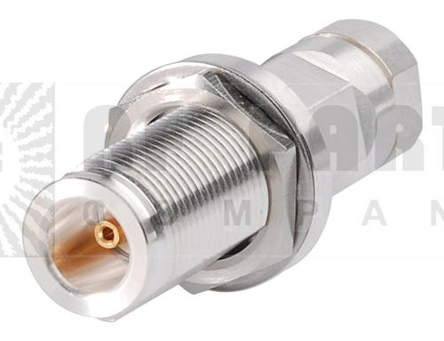 L1PNF-BH  Type N Female Bulkhead for 1/4 in LDF1-50 cable, Andrew / Commscope