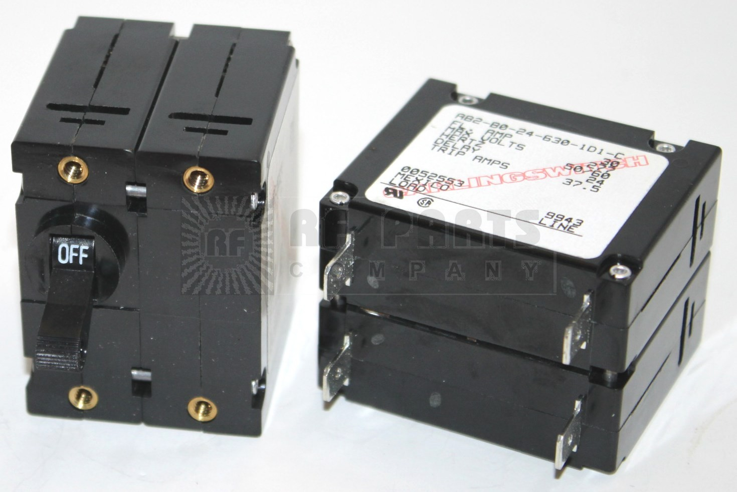 AB2-B0-24-630-1D1 Circuit Breaker, Dual AC, 30a, 277v, Carlingswitch