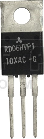 RD06HVF1 Transistor, 6 watt, 175 MHz, 12.5v, Mitsubishi